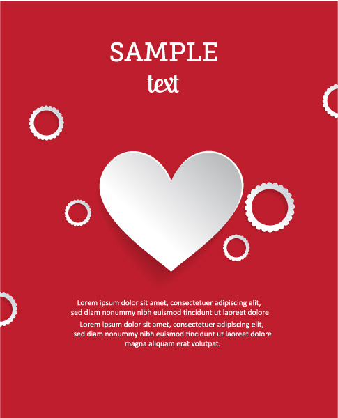 Amazing 3d Eps Vector: 3d Abstract Eps Vector Illustration With Heart 2015 04 04 240
