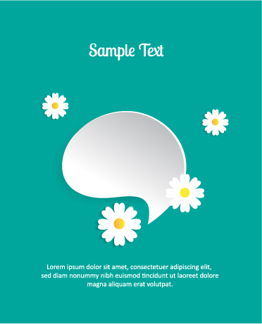 3D abstract vector illustration with chat bubble Vector Illustrations urban