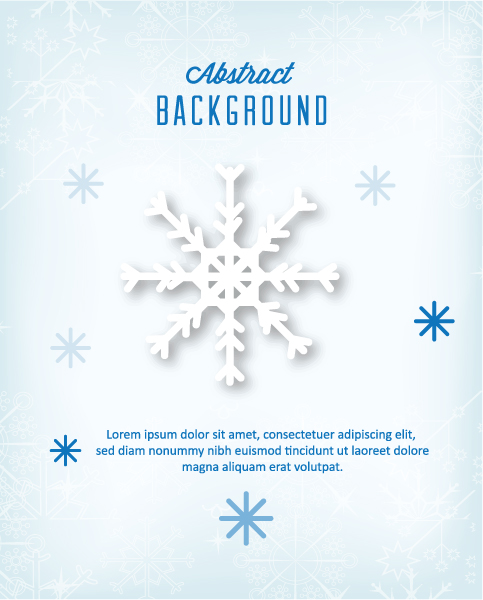 Snowflake Vector Artwork: 3d Abstract Vector Artwork Illustration With Christmas Snowflake 5