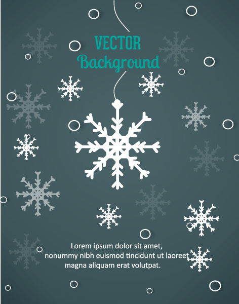 Paper Vector Background 3d Abstract Vector Illustration  Snowflakes 2015 04 04 267