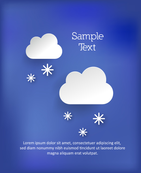 Awesome Clouds Vector: 3d Abstract Vector Illustration With Clouds 5