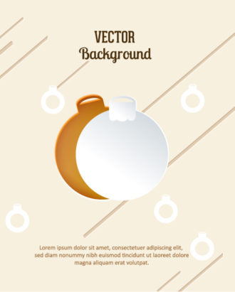 3D abstract vector illustration with christmas globe Vector Illustrations urban
