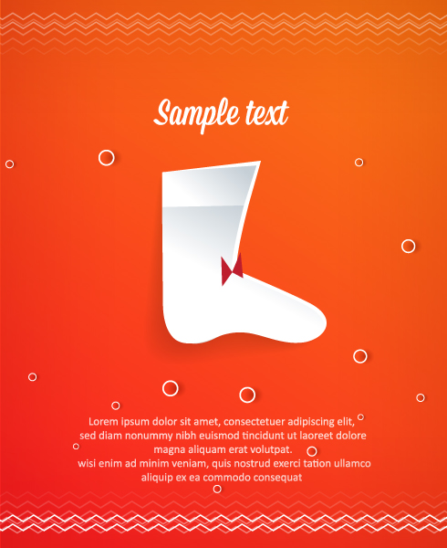 Special Christmas Vector Graphic: 3d Abstract Vector Graphic Illustration With Christmas Socks 5