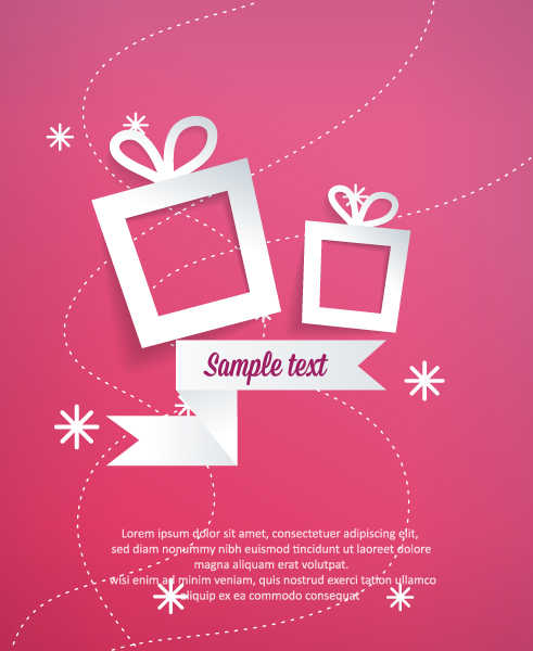 Striking Gift Vector Art: 3d Abstract Vector Art Illustration With Christmas Gift 2015 04 04 280