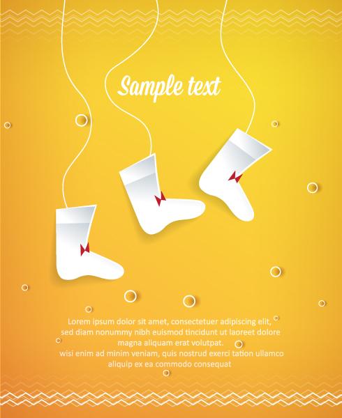 Shape Vector Art 3d Abstract Vector Illustration  Christmas Socks 5
