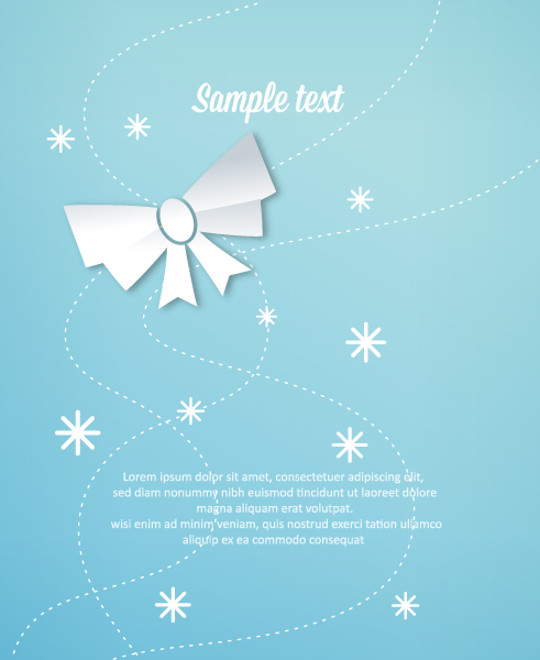 Clean, 3d, Bright, Bow Vector Design 3d Abstract Vector Illustration  Christmas Bow 2015 04 04 290