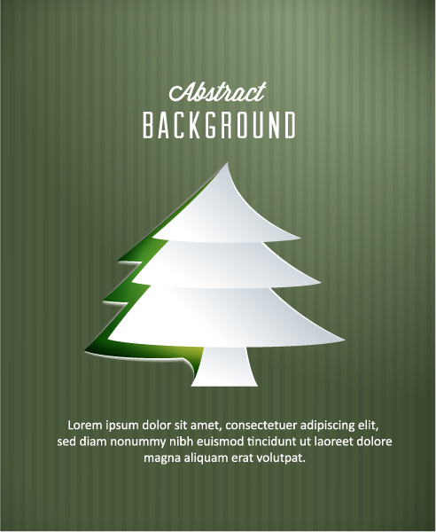 Abstract-2, Christmas Vector Artwork 3d Abstract Vector Illustration  Christmas Tree 5
