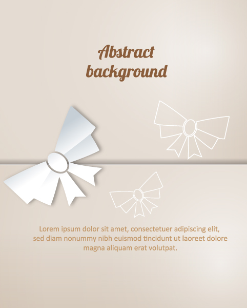 Brilliant Christmas Vector: 3d Abstract Vector Illustration With Christmas Bow 5