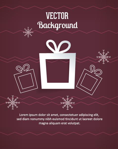 3d Vector Graphic 3d Abstract Vector Illustration  Christmas Gift 2015 04 04 298