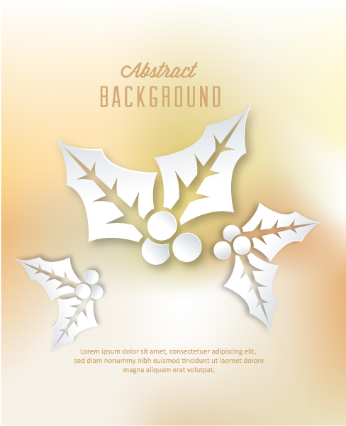 3D abstract vector illustration with christmas element Vector Illustrations urban