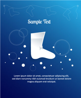 3D abstract vector illustration with christmas socks Vector Illustrations urban