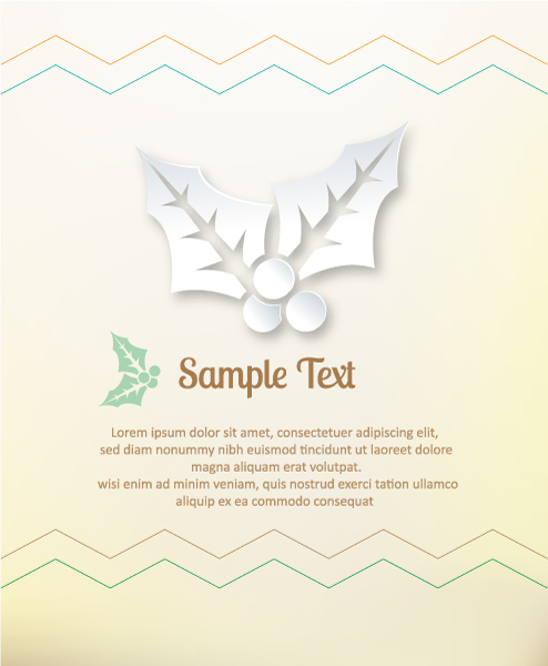 Unique Clean Vector Background: 3d Abstract Vector Background Illustration With Christmas Elements 2015 04 04 329
