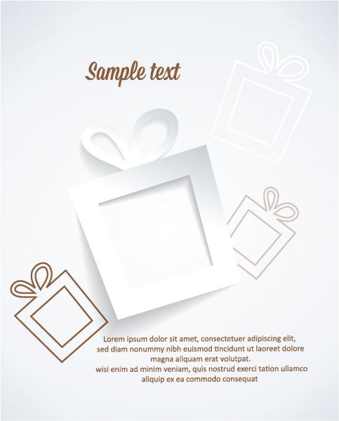 Smashing Shadow Eps Vector: 3d Abstract Eps Vector Illustration With Christmas Gift 5