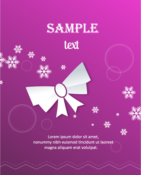 Lovely Bow Vector Art: 3d Abstract Vector Art Illustration With Christmas Bow 2015 04 04 337