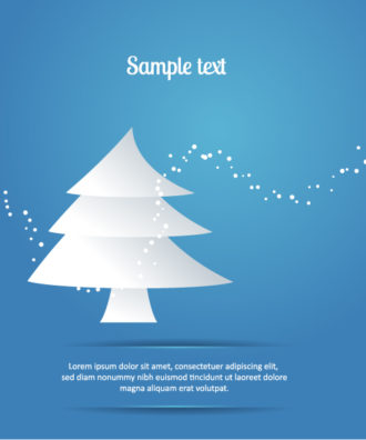 3D abstract vector illustration with christmas tree Vector Illustrations tree