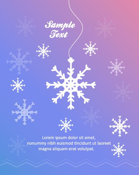 Snowflake Vector Design 3d Abstract Vector Illustration  Christmas Snowflake 2015 04 04 343