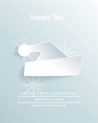 3D abstract vector illustration with christmas hat Vector Illustrations urban