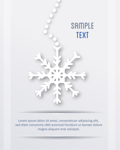 Download Illustration Vector: 3d Abstract Vector Illustration With Christmas Snowflake 2015 04 04 348
