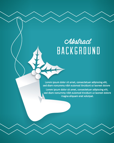 Buy Eps Eps Vector: 3d Abstract Eps Vector Illustration With Christmas Socks 2015 04 04 359