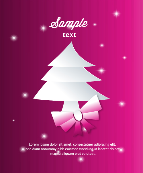 Awesome 3d Vector Background: 3d Abstract Vector Background Illustration With Christmas Tree 5