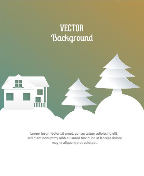 Christmas, Stylish, Illustration Vector Illustration 3d Abstract Vector Illustration  Christmas Tree  Buildings 2015 04 04 370
