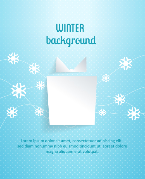 Astounding Snowflakes Vector Image: 3d Abstract Vector Image Illustration With Christmas Gift And Snowflakes 2015 04 04 372