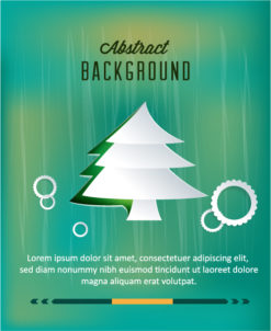 3D abstract vector illustration with sticker  christmas tree Vector Illustrations tree