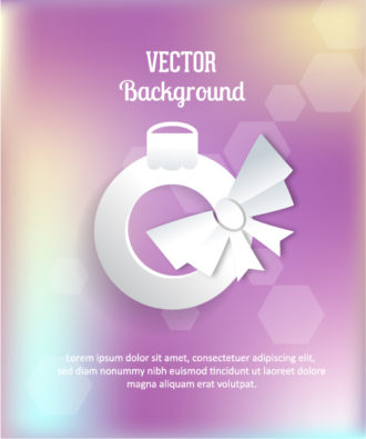 3D abstract vector illustration with sticker  christmas globe and ribbon Vector Illustrations urban
