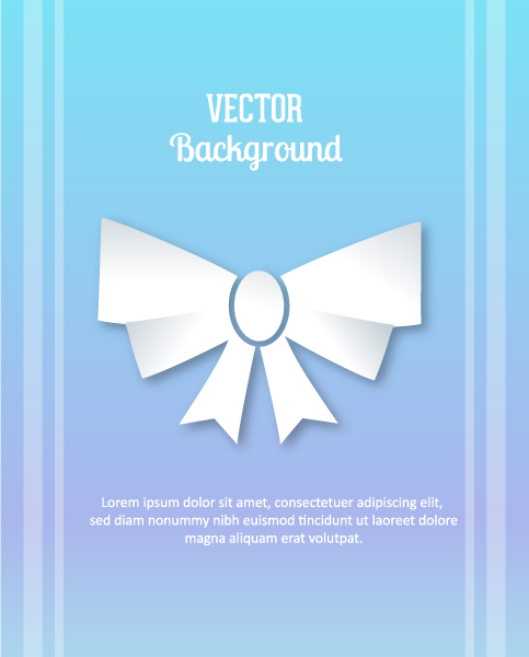 3D abstract vector illustration with ribbon 5