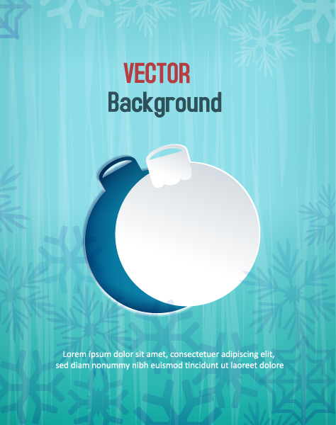 Best 3d Eps Vector: 3d Abstract Eps Vector Illustration With Sticker  Christmas Globe 2015 04 04 380