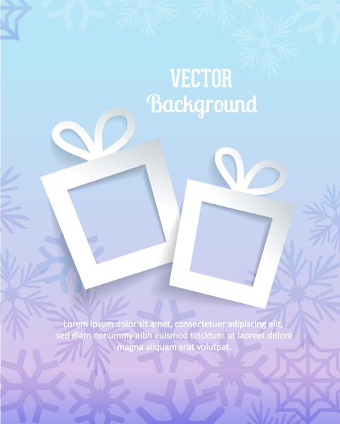 Gift Vector Graphic 3d Abstract Vector Illustration  Gift  Snowflakes 5