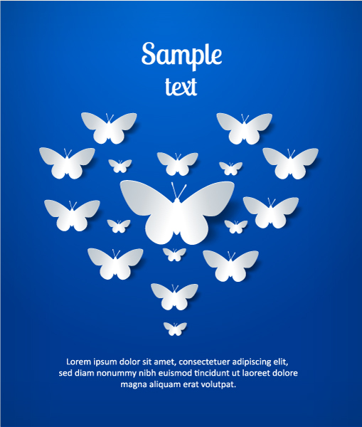 Lovely Shape Vector: 3d Abstract Vector Illustration With Butterflies 5
