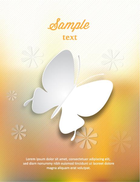 Butterflies, Shape Vector Design 3d Abstract Vector Illustration  Butterflies  Flowers 2015 04 04 398