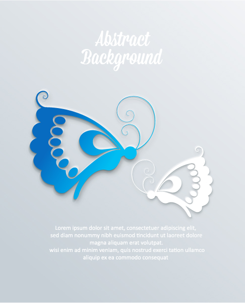 New Vector Art 3d Abstract Vector Illustration  Butterflies 2015 04 04 400