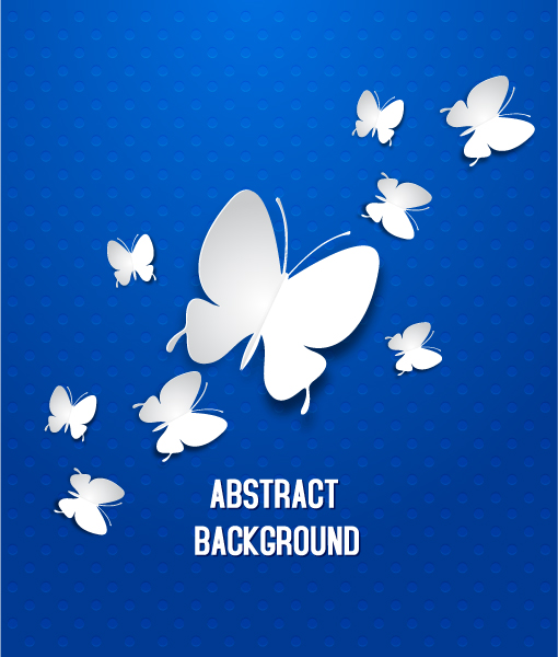 Illustration Vector Art 3d Abstract Vector Illustration  Butterflies 2015 04 04 401