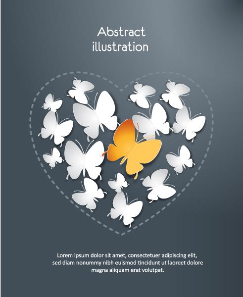 Astounding 3d Vector Design: 3d Abstract Vector Design Illustration With Butterflies 5