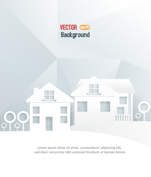 Astounding Buildings Vector Art: 3d Abstract Vector Art Illustration With Buildings And Clouds And Birds 2015 04 04 412