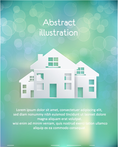 Illustration, Clouds Vector Design 3d Abstract Vector Illustration  Buildings  Clouds 2015 04 04 433