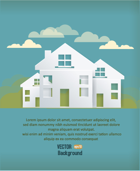 3d Vector Graphic 3d Abstract Vector Illustration  Buildings  Clouds 2015 04 04 434