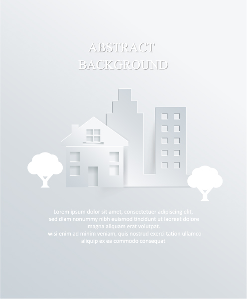 3d Vector: 3d Abstract Vector Illustration With Buildings And Clouds 2015 04 04 435