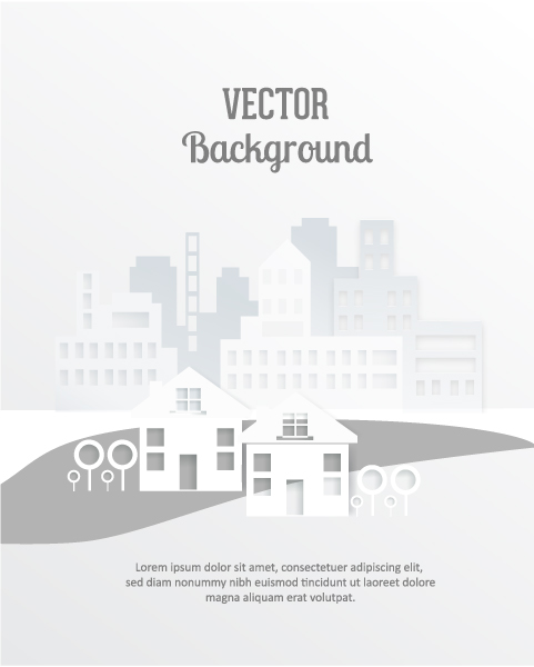 Buildings, Shadow Vector Graphic 3d Abstract Vector Illustration  Abstract Buildings 5