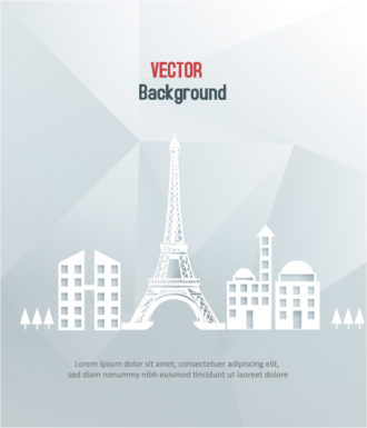 3D abstract vector illustration with abstract buildings Vector Illustrations city