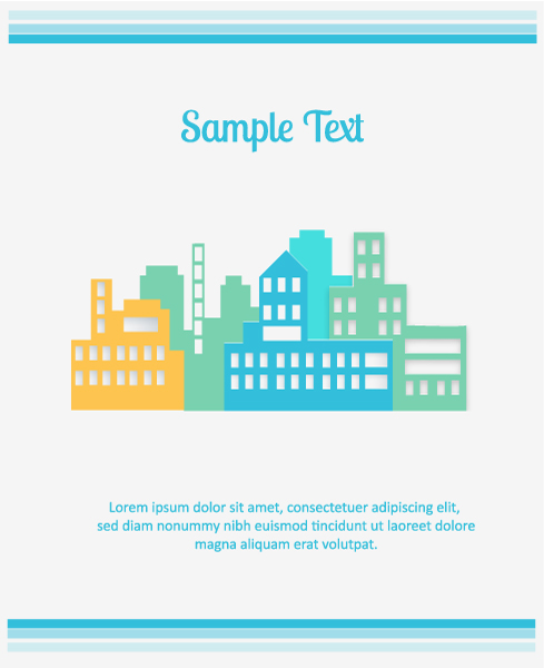 3D abstract vector illustration with abstract buildings 2015 04 04 460