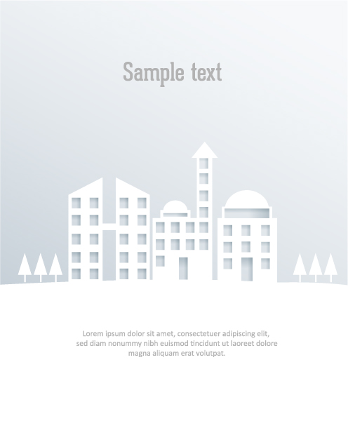3D abstract vector illustration with abstract buildings 5
