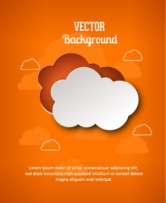 3D abstract vector illustration with abstract sticker clouds Vector Illustrations urban