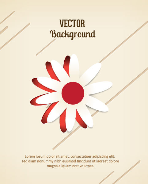 3D abstract vector illustration with abstract sticker flowers Vector Illustrations urban