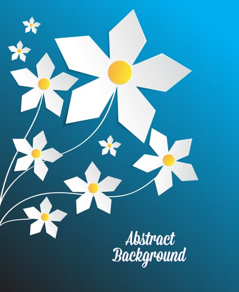 3D abstract vector illustration with abstract paper flowers Vector Illustrations urban