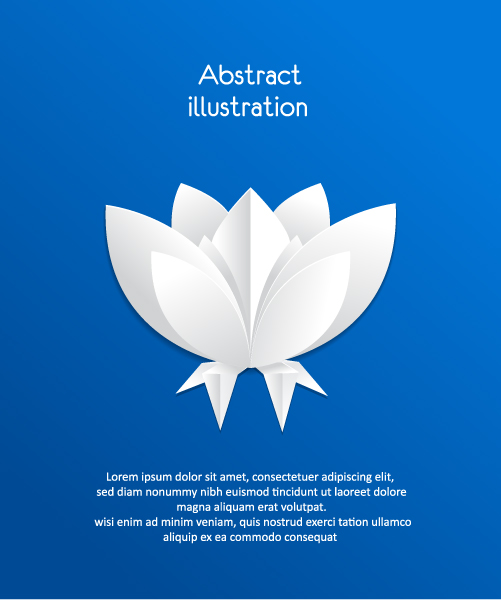 3D abstract vector illustration with paper flowers Vector Illustrations urban