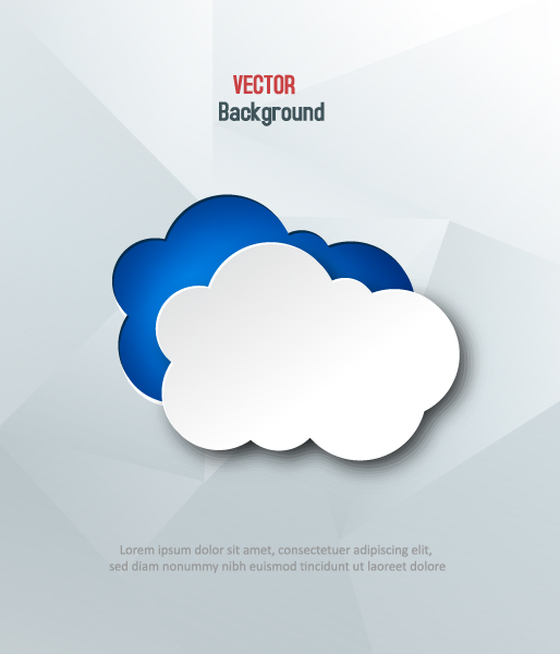 3D abstract vector illustration with clouds 2015 04 04 630