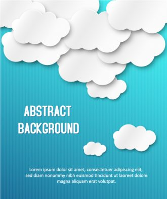 3D abstract vector illustration with clouds Vector Illustrations urban